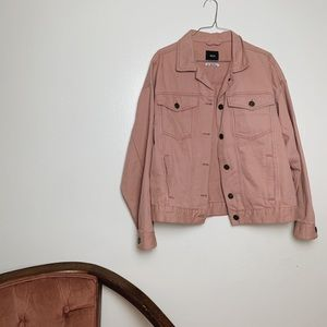 urban outfitters bdg women's pink '80s jean jacket